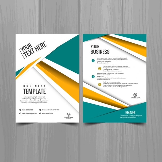 Beautiful modern brochure template vector free download for Beautiful brochure templates