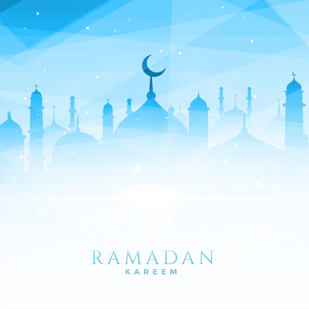 Beautiful mosque illustration for ramadan kareem Free Vector