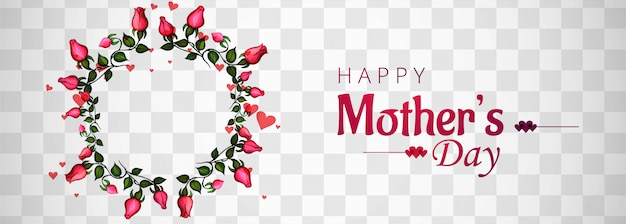 Beautiful mother's day background transparent Free Vector