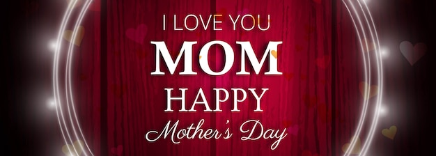Beautiful mother's day celebration banner template Free Vector