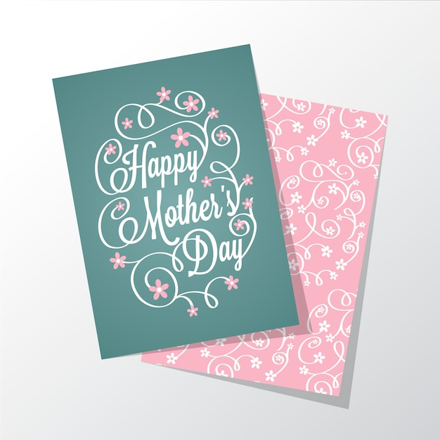 beautiful mothers day greeting card vector  free download