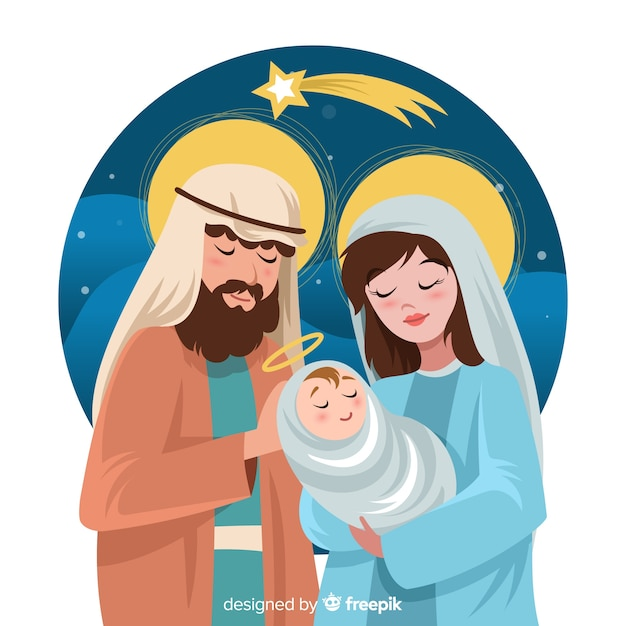 Beautiful nativity background Free Vector