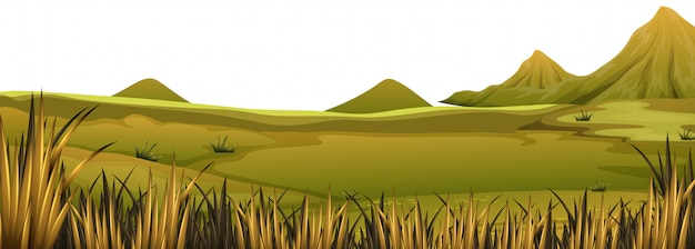 A beautiful nature landscape Free Vector