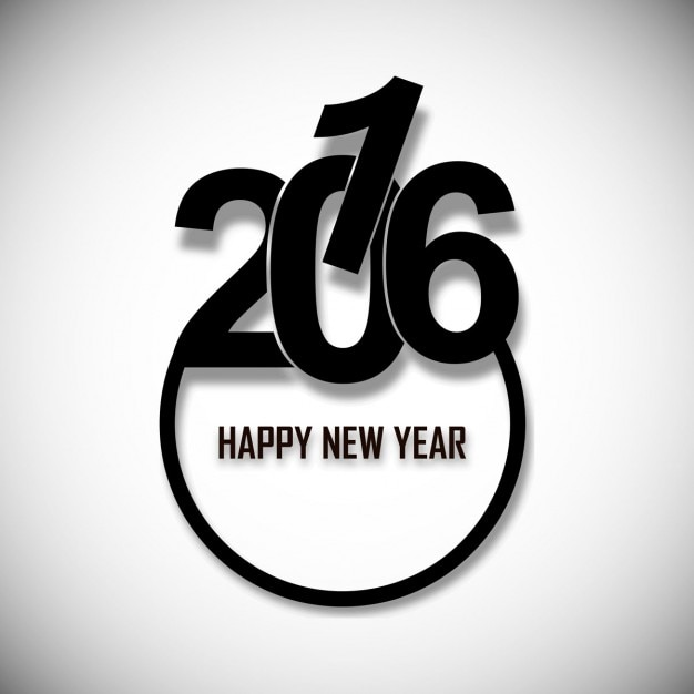 Beautiful new year 2016 text