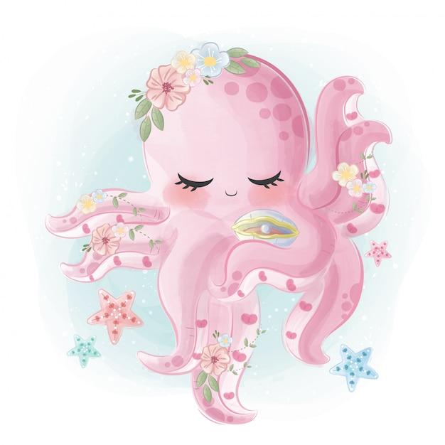 Beautiful octopus Premium Vector
