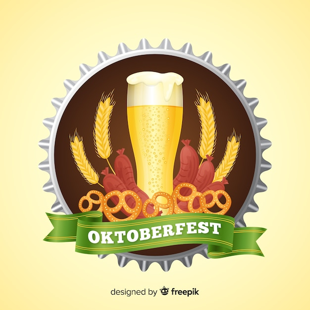 Beautiful oktoberfest background Free Vector