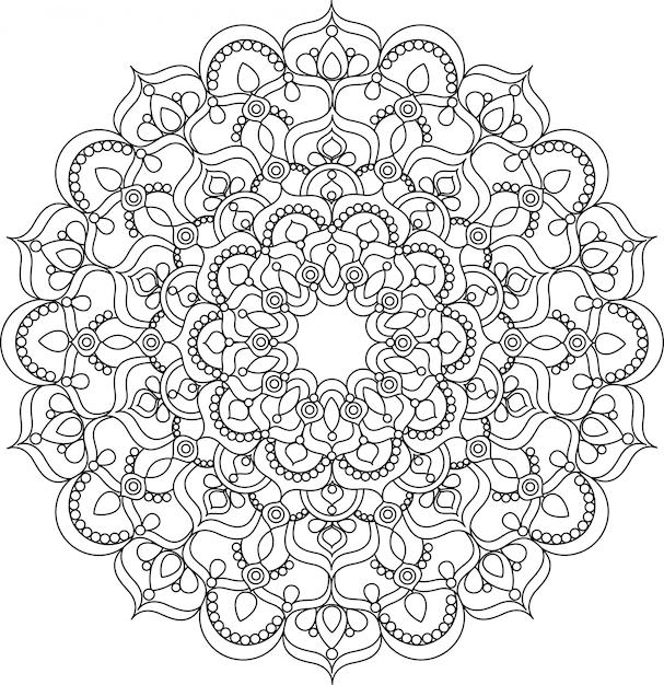 Beautiful ornate vintage vector mandala illustration Premium Vector