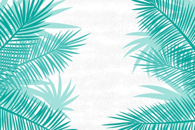 Beautiful palm tree leaf background. Premium Vector