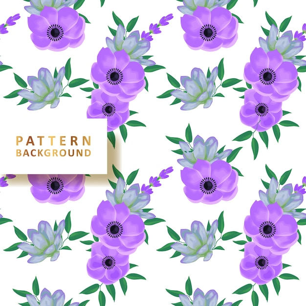 Beautiful pattern background with succulents Premium Vector