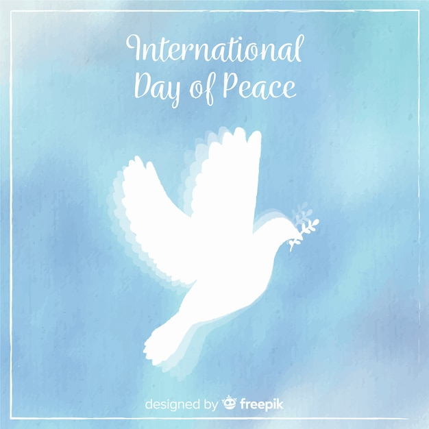 Beautiful peace day background Free Vector