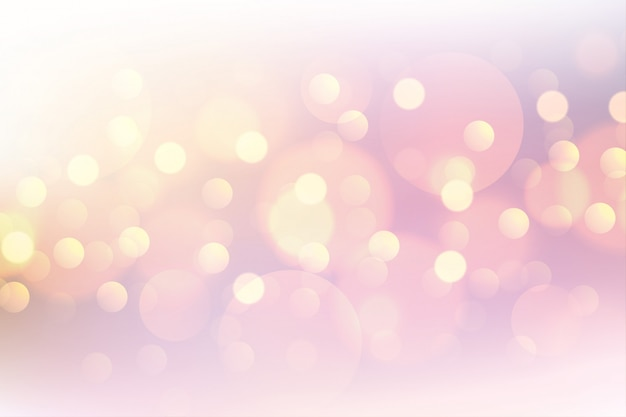 Beautiful pink bokeh soft blurred background Free Vector