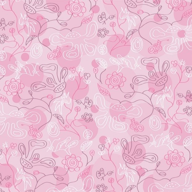 beautiful pink floral background vector | free download