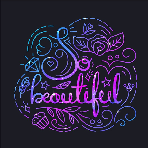 Beautiful Quote Background Vector Free Download Beauteous Beautiful Quote