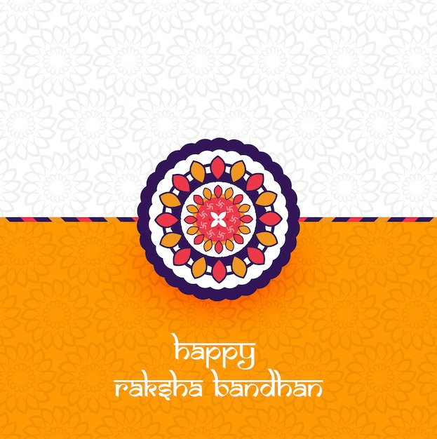 Beautiful rakhi decorated Free Vector