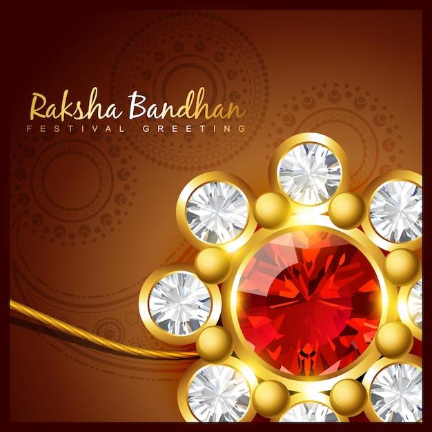 Beautiful raksha bandhan design Premium Vector