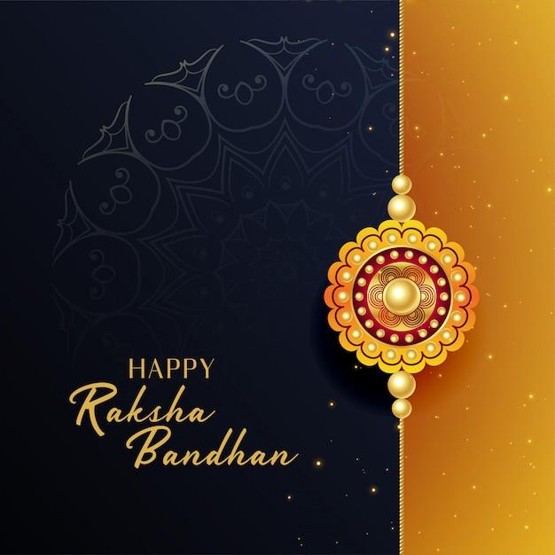 Beautiful raksha bandhan festival greeting background Free Vector