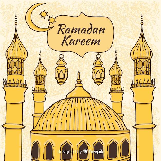 Beautiful ramadan background Free Vector