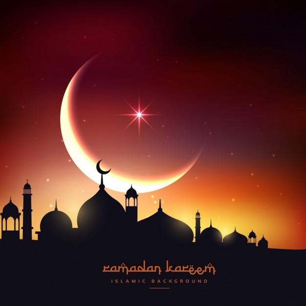 Beautiful Ramadan Kareem Background Free Vector
