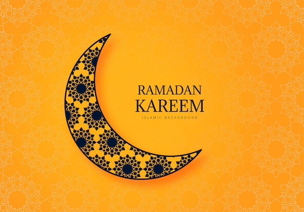 Красивый фон рамадан карим праздник карты Бесплатные векторы