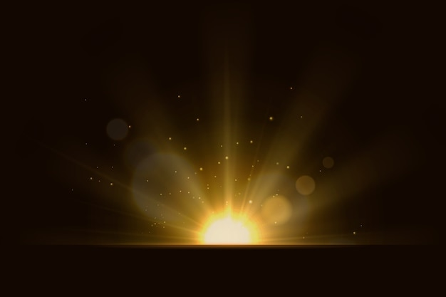 Beautiful rays of light effect Free Vector