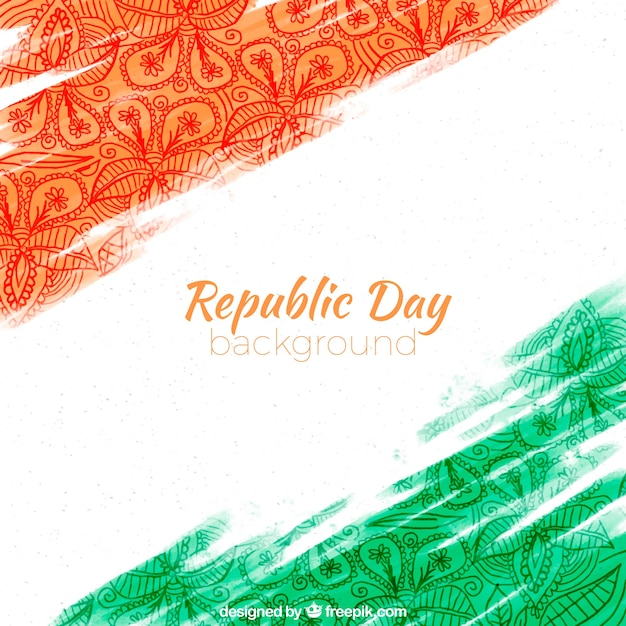 Beautiful republic day background Free Vector