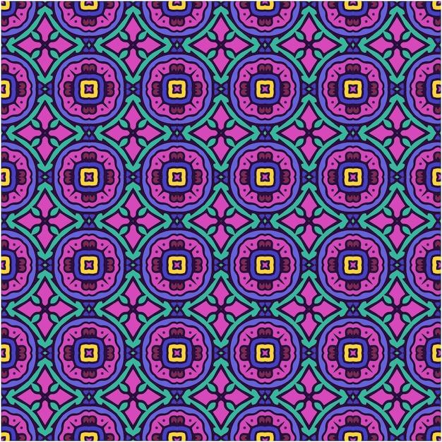 美しいシームレスなパターンの抽象的な背景 Premiumベクター