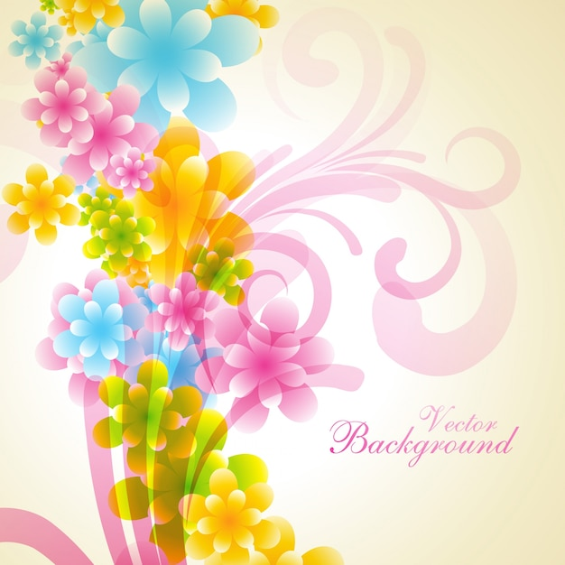 beautiful shiny floral background design vector free