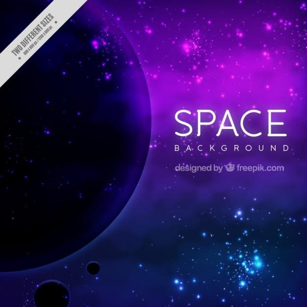 Beautiful shiny space background