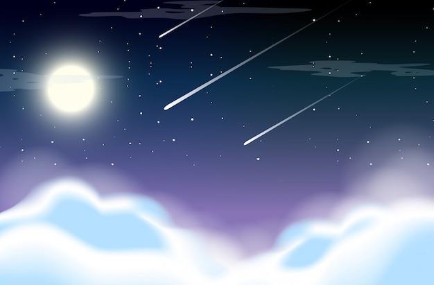 Beautiful sky at night Premium Vector