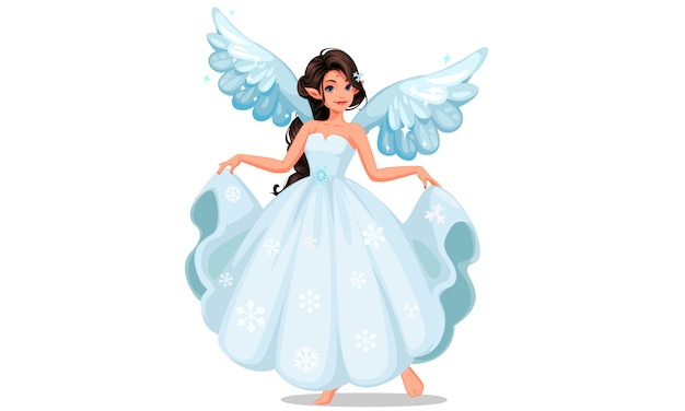 Beautiful snow fairy Premium Vector