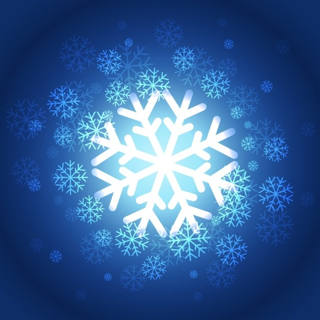 Beautiful snowflakes background Free Vector