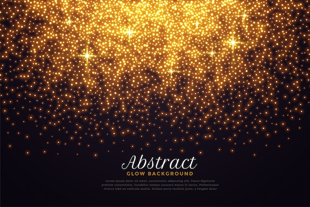 Beautiful sparkles in golden color Free Vector
