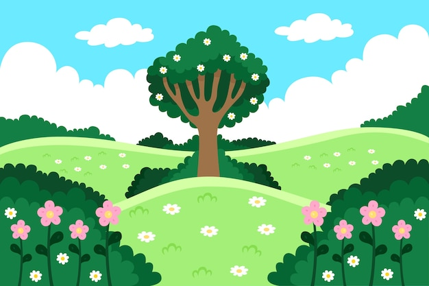 Beautiful spring background Free Vector
