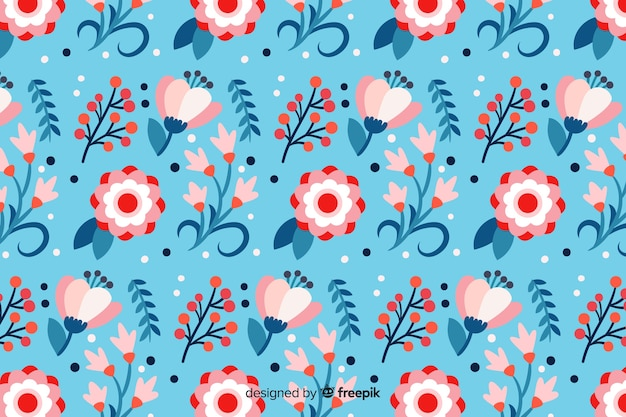 Beautiful spring flowers background Free Vector