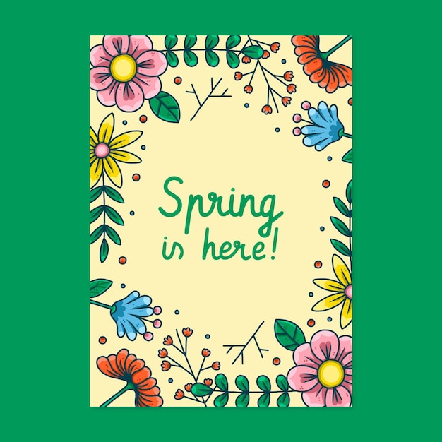 아름다운 봄 파티 포스터 무료 벡터