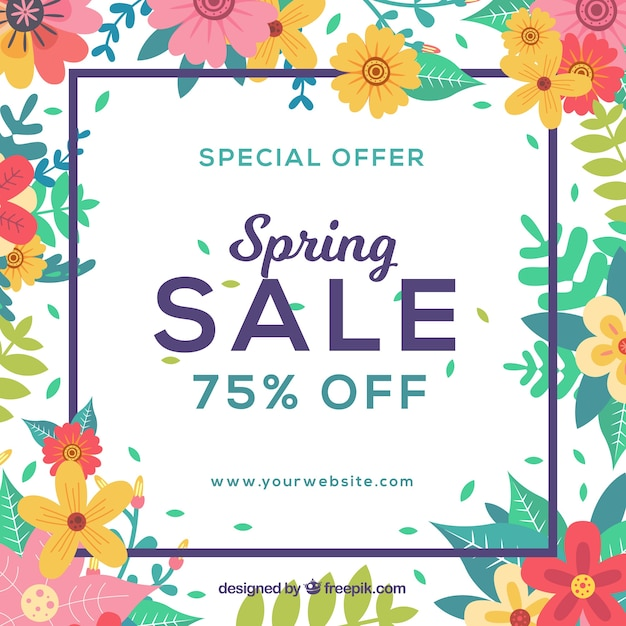 Spring Sale: Beautiful Spring Sale Background Vector