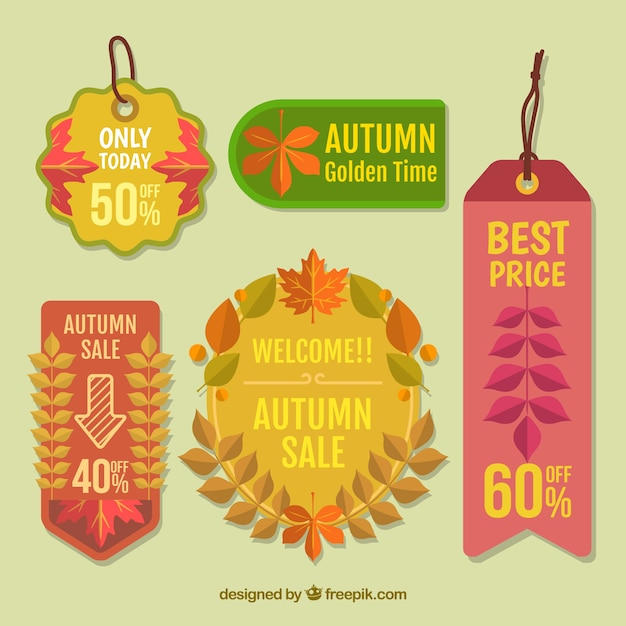 Beautiful Stickers With Offers Free Vector