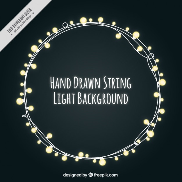 Beautiful String Lights On A Black Background Free Vector