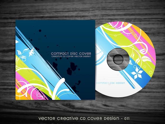 Beautiful stylish cd cover design Free Vector