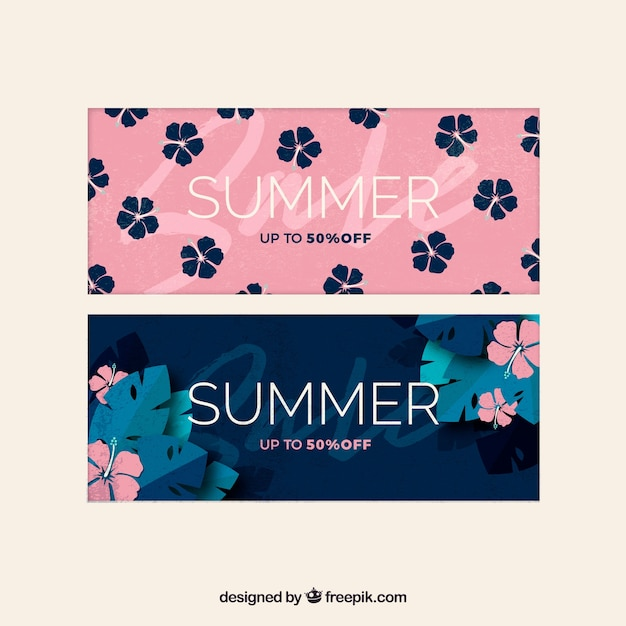 Beautiful summer sale banners