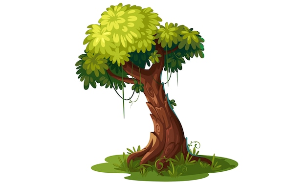 Beautiful tree vector illustration Premium Vector