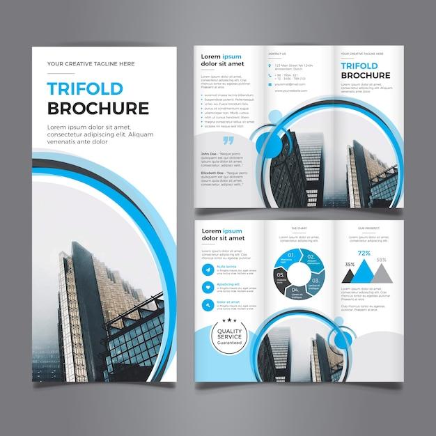 beautiful trifold brochure premium vector