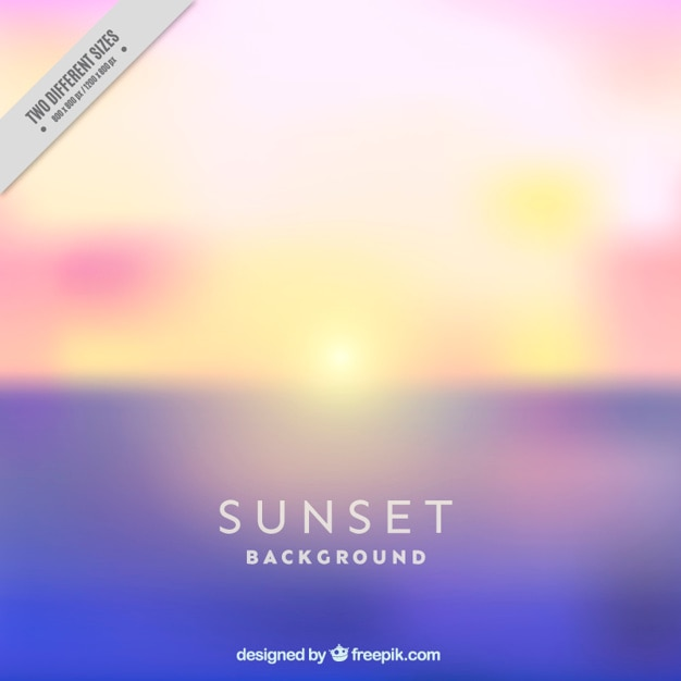 Beautiful unfocused sunset background