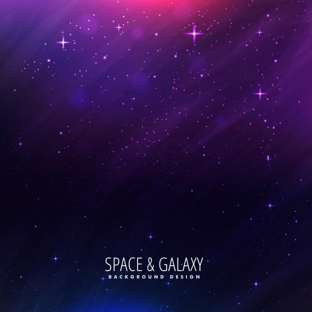 보라색 컬러의 아름다운 우주 배경 무료 벡터