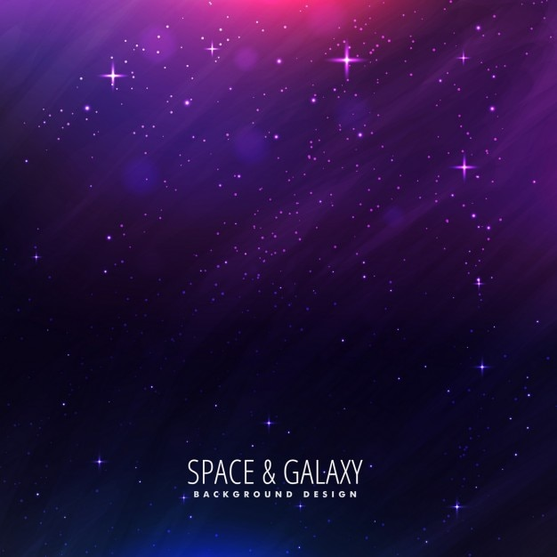 Beautiful universe background in purple color Free Vector
