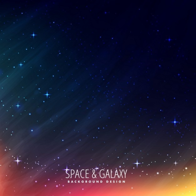 Beautiful universe background Free Vector