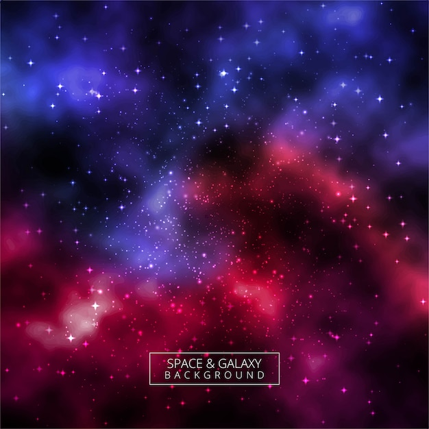 Beautiful universe galaxy colorful background Premium Vector