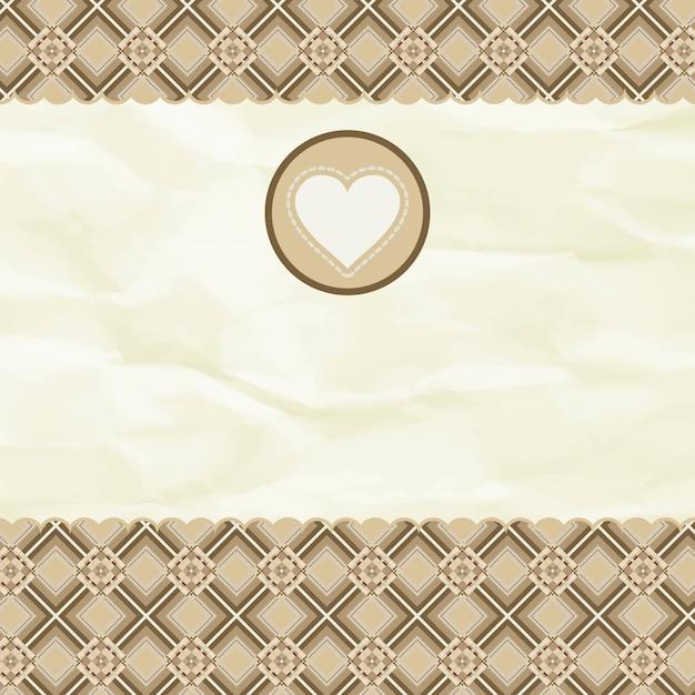 Красивая валентинка с сердцем. Premium векторы