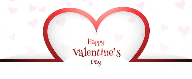 Beautiful valentine's day card header background Premium Vector
