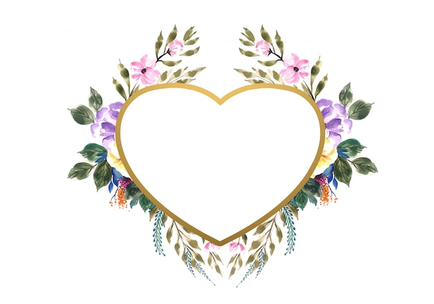Beautiful valentine's day decorative flowers heart Free Vector